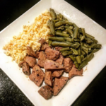 beef tend plate